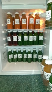 lots of yummy cold pressed juice